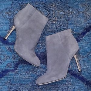 Sam Edelman Kourtney Ankle Boots Gray Suede (Flaw)